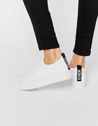 Pull And Bear Pullandbear Message Trainer White