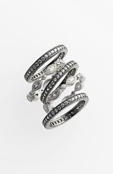 Women's Freida Rothman Stackable Eternity Band Rings Set Of 5