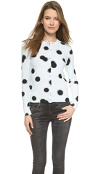 Marc By Marc Jacobs Blurred Dot Print Cardigan Cloud Blue Multi