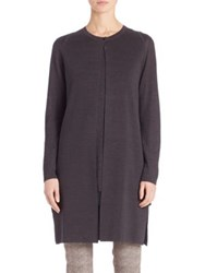Akris Long Linen And Silk Cardigan Black