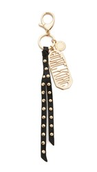 Rebecca Minkoff Hong Kong Key Fob Black Light Gold