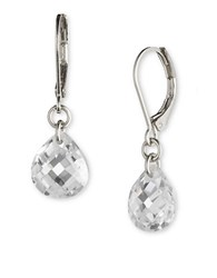 Lonna And Lilly Cubic Zirconia Drop Earrings Silver