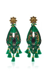 Ranjana Khan Forest Green Amethyst Earrings