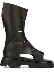 Julius Cut Out Boots Black