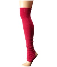 Toesox Leg Warmer Open Heel Fuchsia Women's Knee High Socks Shoes Pink