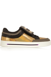 Marc By Marc Jacobs Cute Kicks Suede And Holographic Leather Sneakers