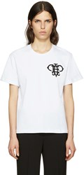 Emilio Pucci White Embroidered Logo T Shirt