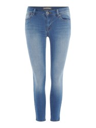 Barbour International Delta Skinny Cropped Jeans Blue
