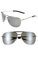 Smith Optics Women's Serpico 65Mm Polarized Aviator Sunglasses Silver