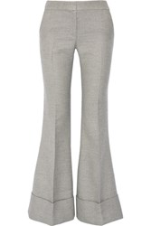 Co Wool And Silk Blend Flared Pants Gray