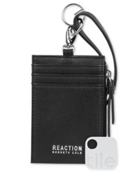 Kenneth Cole Reaction Lanyard Wallet With Tracker Black