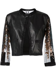 Aviu Three Quarters Sheer Sleeve Jacket Black