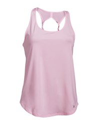 Under Armour Fly By 2.0 Cutout Racerback Tank Top Pink