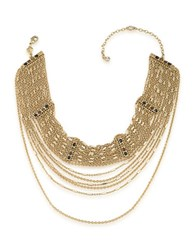 Carolee 12K Goldplated Chain Link Choker Necklace