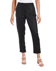 Lord And Taylor Drawstring Pants Black