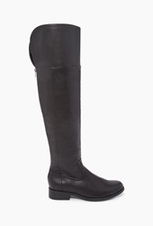 Forever 21 Over The Knee Faux Leather Boots Black