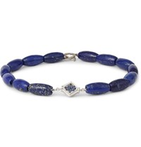 Luis Morais Lapis White Gold And Sapphire Bracelet Blue