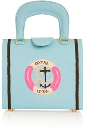 Olympia Le Tan Bernard Bouee Embroidered Tote Blue