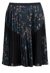 Banana Republic Pleated Skirt Teal Multicoloured