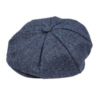 Dents Mens Eight Piece Cap Abraham Moon Tweed Denim