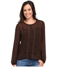 Ariat Lilly Top Dark Chocolate Women's Clothing Brown