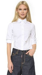 Dsquared Classic One Button Shirt White