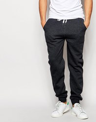 Solid Joggers With Drawstring Waist Black