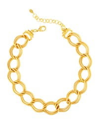 Jose And Maria Barrera Chain Link Collar Necklace Gold