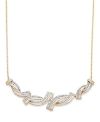 Wrapped In Love Diamond Twist Frontal Necklace In 10K Gold 1 2 Ct. T.W.