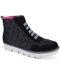 Mia Terran High Top Lace Up Sneakers Women's Shoes Black