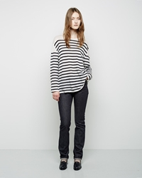 Charlotte Gainsbourg X Current Elliott The Mid Rise Slim Straight Jean Raw