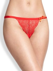 Huit Nouvel Emoi Lace Thong Ivory Black
