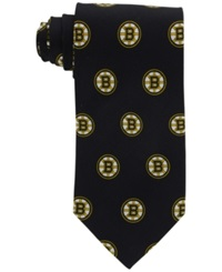 Eagles Wings Boston Bruins Repeat Logo Tie Black