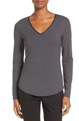 Nordstrom Women's Collection Stripe Stretch Modal Top