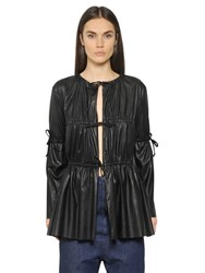 Maison Martin Margiela Light Faux Leather Gathered Jacket