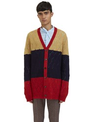 Gucci Oversized Block Coloured Knit Cardigan