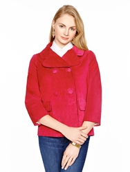 Kate Spade Madison Ave. Collection Suede Greer Jacket Sweetheart Pink
