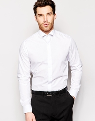 French Connection White Slim Fit Dress Shirt