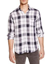 Rails Lennox Plaid Regular Fit Button Down Shirt White Oxford Blue