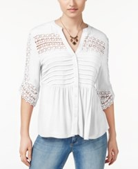 American Rag Lace Babydoll Top Only At Macy's One White