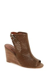 Lucky Brand Women's 'Rozina' Cutout Wedge Sandal Brindle Leather