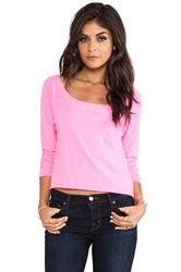 Chaser Long Sleeve Cropped Raglan Pink