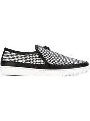 Versace Braided Slip On Sneakers Black