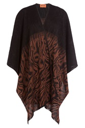Missoni Knitted Cape With Mohair And Wool Multicolor