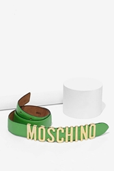 Nasty Gal Vintage Moschino Green Leather Belt