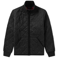 Fred Perry X Lavenham Quilted Tricot Jacket Black