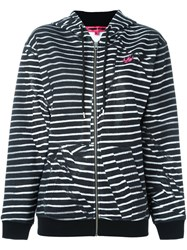 Mcq By Alexander Mcqueen 'Swallow' Striped Hoodie Black