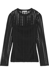 Alexander Wang Cutout Stretch Cotton Blend Jersey Top Black