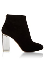 Charlotte Olympia Alba Suede Ankle Boots Black