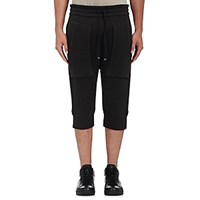 Helmut Lang Men's Cotton Blend Drop Rise Crop Jogger Pants Black
